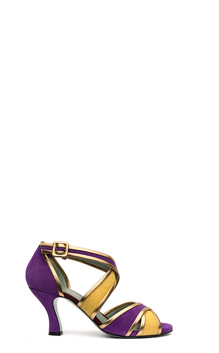 Collection Paola D'Arcano 2016  SUEDE BICOLOR VIOLA